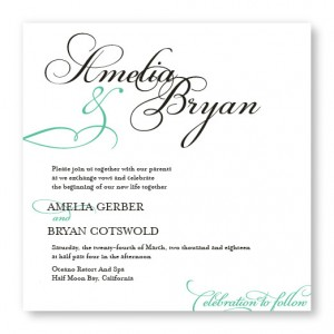 Bella Square Classic Wedding Invitations