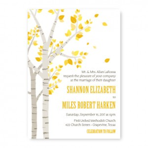 Birch Nature Wedding Invitations