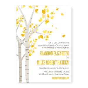 Birch Nature Wedding Invitations