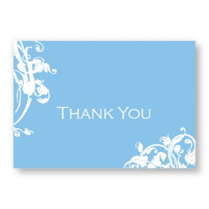 Venetian Romance Thank You Cards
