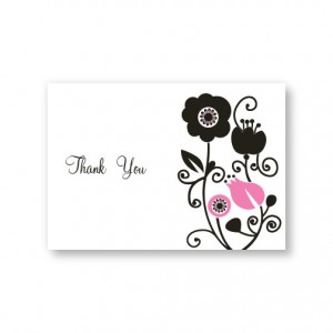 Floral Elegance Thank You Cards