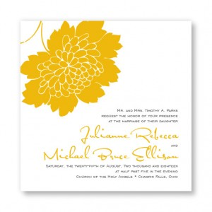 Bliss Square Floral Wedding Invitations