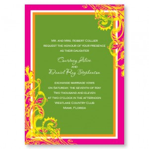 Blissful Pink Wedding Invitations