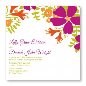 Bloom Square Wedding Invitations