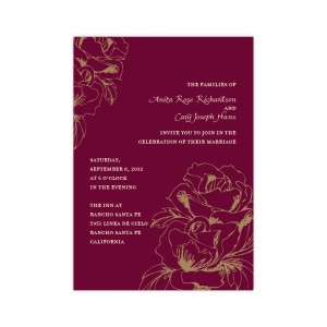 Blooming Roses Wedding Invitations