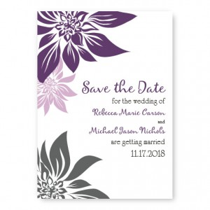 Blossoming Love Save The Date Cards