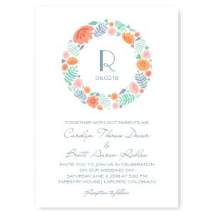 Blossoms Floral Wedding Invitations