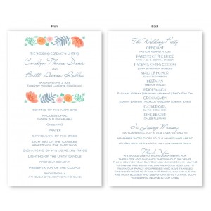 Blossoms Wedding Program