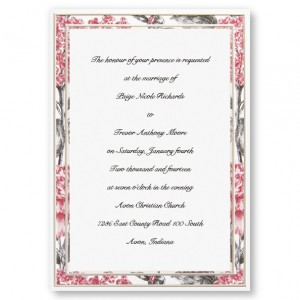 Botanical Border Floral Wedding Invitations