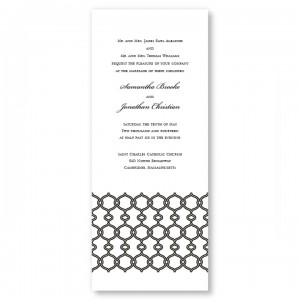 Boulevard Scroll Wedding Invitations