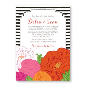 Bouquet Floral Wedding Invitations