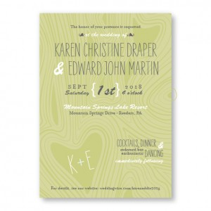 Branch & Woodgrain Rustic Wedding Invitations