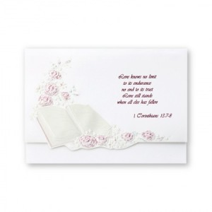 Bridal Blessings Wine Wedding Invitations