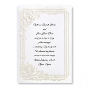 Bridal Dreams Floral Wedding Invitations