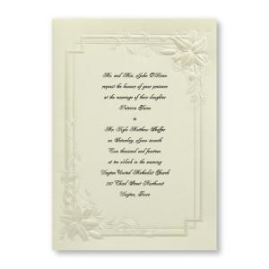 Bridal Lilies Floral Wedding Invitations