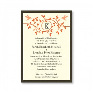 Bright Beginnings Autumn Wedding Invitations