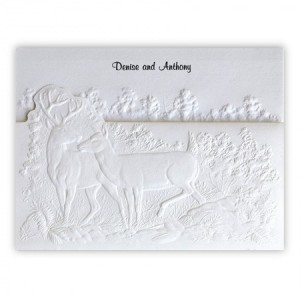 Buck and Doe Rustic Wedding Invitations