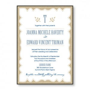 Burlap 2-Layer Rustic Wedding Invitations