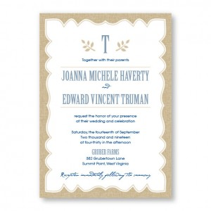 Burlap Rustic Wedding Invitations