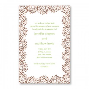 Burst Bouquet Invitations