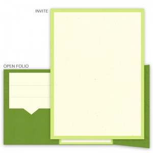 DIY 5 x 7 Gate Folio Pocket Wedding Invitations  - 2 Layers Small Border
