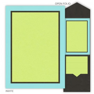 DIY 5 x 7 V-Flap Folio Wedding Invitations - 3 Layers