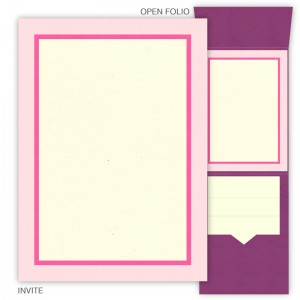DIY 5 x 7 Vertical Folio Wedding Invitations - 3 Layers