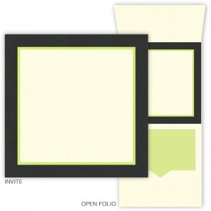 DIY 6 x 6 Vertical Folio Pocket Wedding Invitations - 3 Layers