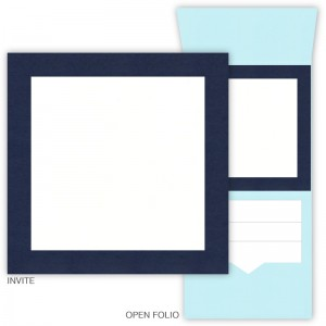DIY 6 x 6 Vertical Folio Pocket Wedding Invitations - 2 Layers Large Border