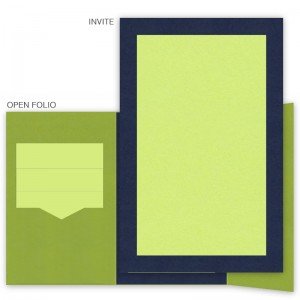 DIY 6 x 9 Gate Folio Pocket Wedding Invitations - 2 Layers Large Border