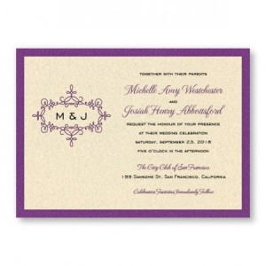 Rosie 2-Layer Wedding Invitations