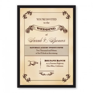 Cadence Vintage Wedding Invitations