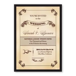 Cadence Vintage Wedding Invitations