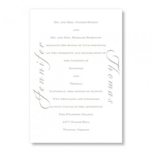 Calligraphy Invitation Classic Wedding Invitations