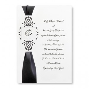 Castillian Monogram Wedding Invitations