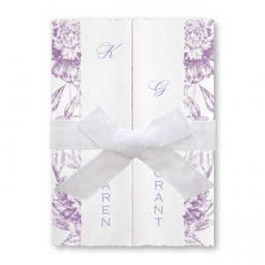 Charmed Floral Purple Wedding Invitations