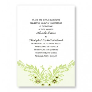 Charming Accent Wedding Invitations