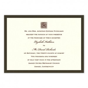 Chelsea Elegant Wedding Invitations