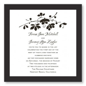 Cherry Blossom Branch Floral Wedding Invitations