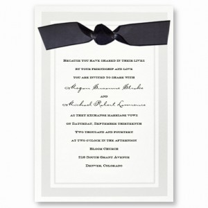 Claridge White Wedding Invitations