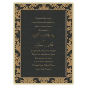 Clarissa 2-Layer Damask Wedding Invitations