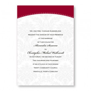 Classic Arch Damask Wedding Invitations
