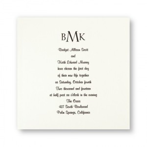 Classic Monogram Traditional Wedding Invitations