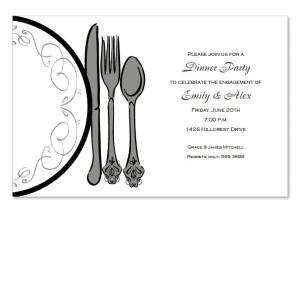 Classic Plate Invitations
