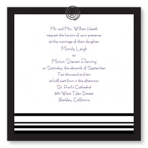Clipped Classic Unique Wedding Invitations