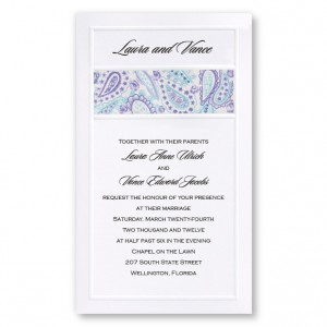 Colorful Perfection Paisley Purple Wedding Invitations
