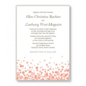 Confetti 2-Layer Custom Wedding Invitations