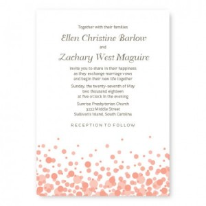 Confetti Custom Wedding Invitations