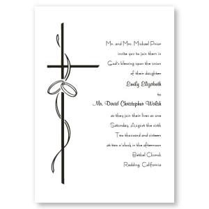 Contemporary Cross Religious Wedding Invitations