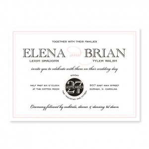 Cosmopolitan Modern Wedding Invitations